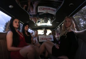 Striptease show in the limo