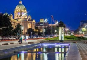 Serbian parliament building