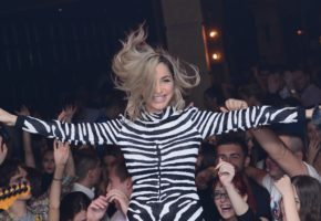 Maya Berovic in Gauchosi night club