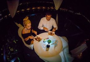 Dinner on a Bungee crane