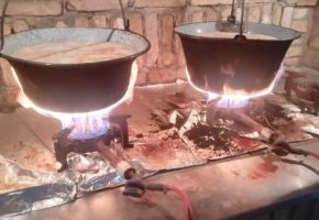 Serbian Traditional cooking in city of Sremski Karlovci