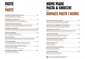 Restaurant – Comunale - Pricelist