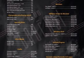 Gauchosi Night Club - Pricelist
