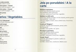 Restaurant – Ima dana - Pricelist