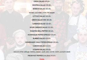 Restaurant – Lorenzo & Kakalamba - Pricelist