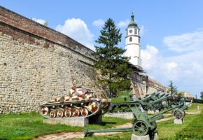 Open air military museum in Kalemegdan Fortress