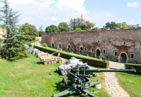 Open air army museum in Kalemegdan fortress