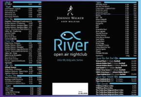 River Night Club - Pricelist