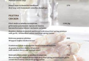Restaurant Stanica 1884 - Pricelist