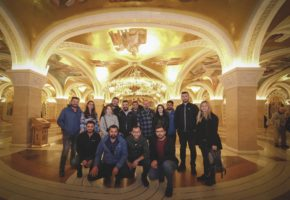 Tour group inside the Saint Sava Temple in Belgrade