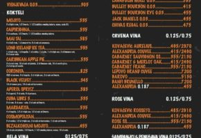 Pub Wurst Platz Bar - Pricelist