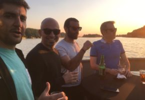 Bachelor boat cruising party in Belgrade