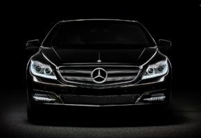 Black Mercedes benz