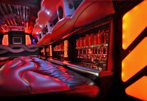 Hummer limo for rent interior