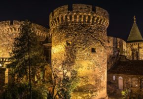 Kalemegdan fortress at night