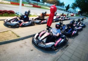 Karting in belgrade stag party