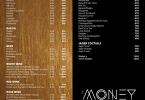 Money Night Club - Pricelist