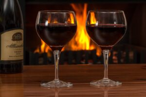 red-wine-fireplace